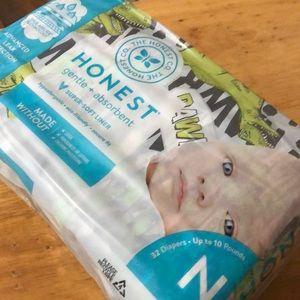 Baby newborn diapers honest dinosaur